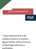 False Imprisonment Ppt1265(1)