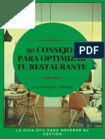 50 Consejos Para Optimizar Tu Restaurante - J. Luis Martir Millan