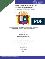 OPTIMIZACION DE PROCESOS DE LIXIVIACION