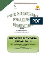 Informe Anual Memoria