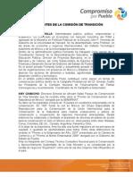 Integrantes de la Comisión de Transición del Estado de Puebla