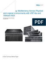 Dell Networking Multitenancy Vrf Lite and Vware Nsx