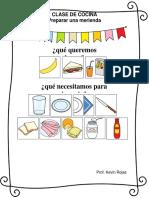 Clase de Cocina con Pictogramas