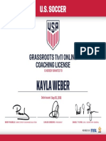 grassroots coaching license