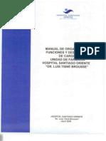 Manual de Organizacion Funciones y Descripcion de Cargos Unidad Farmacia