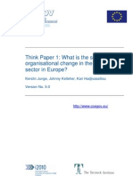 Scope for Organisational Change in the Public Sector 2007