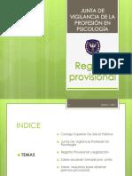Registro provisional psicología El Salvador