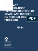 Standard Specifications for Construction of Roads and Bridges on Fh TOC