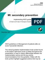 Acute myocardial infarction AMI - Secondary Prevention