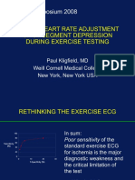 SIMPLE HEART RATE ADJUSTMENT  OF ST SEGMENT DEPRESSION  DURING EXERCISE TESTING