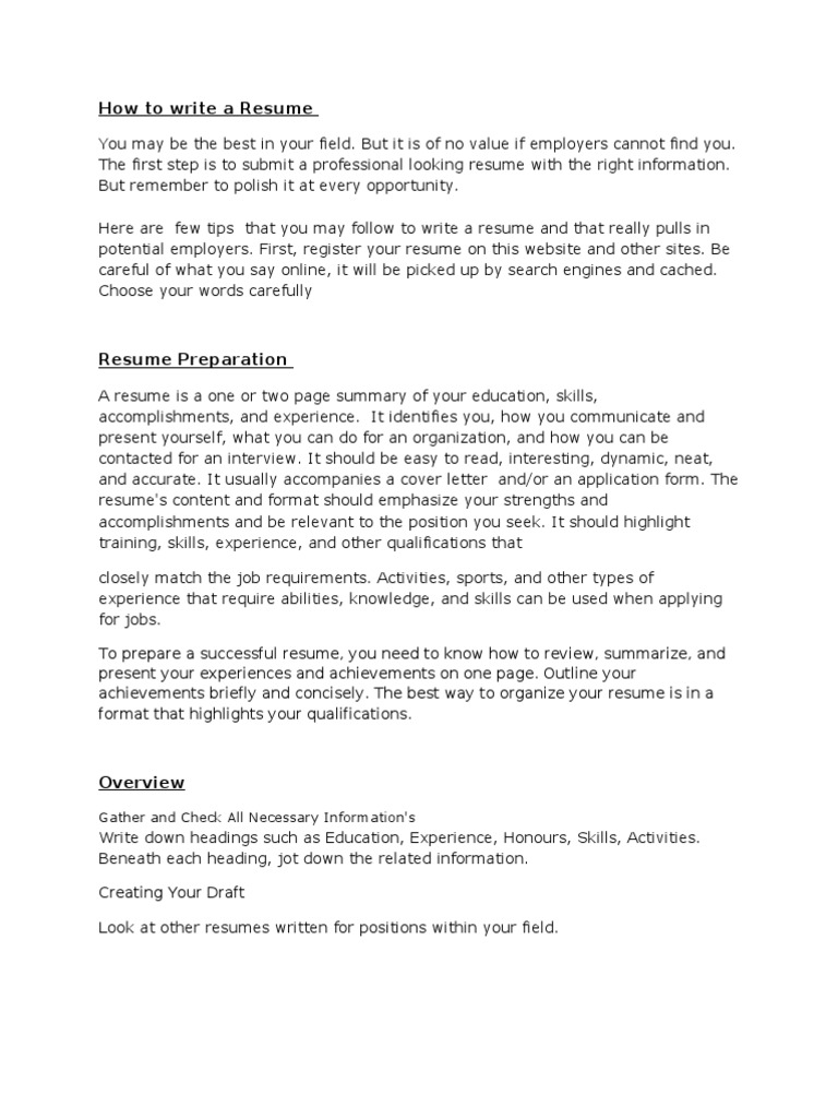 resume writing résumé employment