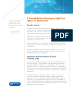 Choosing the Right Cloud Options Whitepaper
