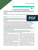 Pengaruh Durasi Diabetes Pada Kepadatan Mineral Tulang Studi Populasi Pada Laki-laki Asia Timur
