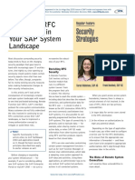 Secure the RFC Connections in Your SAP System Landscape