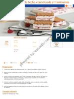 Sandwich Helado de Leche Condensada y Frambuesas