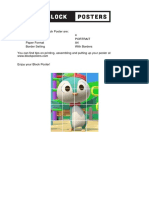 Blockposter-043557 Pinguino Firme