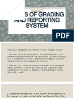 5 Types of Grading and Reporting System