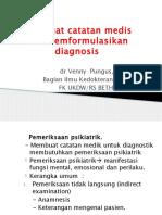 Membuat Catatan Medis Dan Memformulasikan Diganosis (Blm Edit)