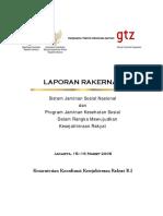 Laporan Rakernas Sjsn 1 2006