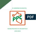 Plan de Gobierno PPC San Bartolo
