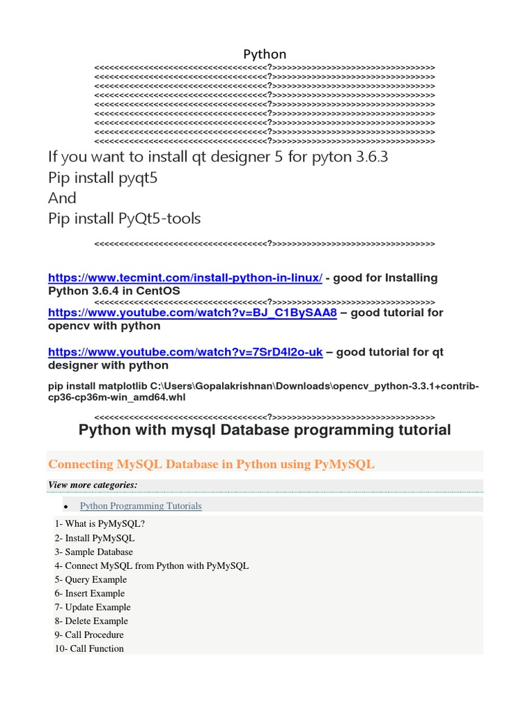 Python Tips | Xml | Comma Separated Values