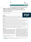 What Factors Are Associated With Recent Intimate Partner Violence- Findings From the WHO Multi-country Study on Women's Health and Domestic Violence