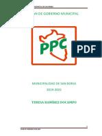 Plan de Gobierno de PPC San Borja