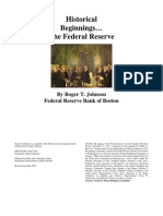 Historical Beginnings of the Federal Reserve