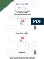 Minicurso Introdução Ao Latex - Operações Básicas