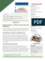 PCAS Newsletter 09-14-2018
