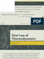 Lecture 02 - First Law of Thermodynamics