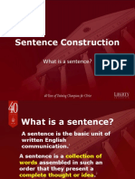 Sentence Construction and Structure