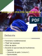 Pobreza y Politicas Publicas