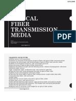Optical Fiber Transmission Media