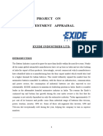 Investment Appraisal Assignment