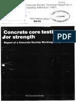 CS TR 11 Concrete Core Testing for Strength