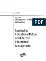 Management Leadership in Education U4