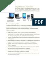 Tipos de Computadoras Portátiles