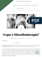 O Que é Microfisioterapia_