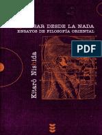 (Hermeneia 71) Kitarô Nishida_ Juan Masiá, Juan Haidar (transl.)-Pensar desde la nada _ ensayos de filosofía oriental-Edicions Sígueme (2006).pdf