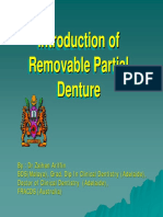 Introduction of Removable Partial