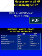 Is an ICD Necessary in all HF  Patients Receiving CRT?