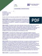 Cuba Reforma Constitucional 2002