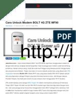 Cara Unlock Modem Bolt 4g Zte Mf90 Jalantikus.com
