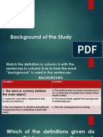 Background of the Study-Statement of the Problem