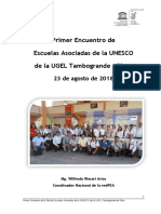 Primer Encuentro de Escuelas UNESCO de La UGEL Tambogrande PIURA
