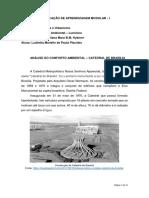 ANÁLISE DO CONFORTO AMBIENTAL – CATEDRAL DE BRASÍLIA