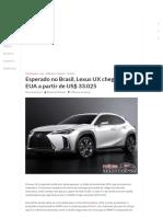 Esperado no Brasil Lexus UX chega aos EUA a partir.pdf