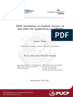 FEM simulation of residual stresses of thin films for applications in MEMS