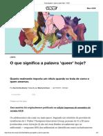 o q é queer hoje?
